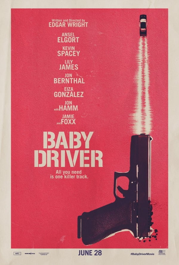 Baby Driver poster retro