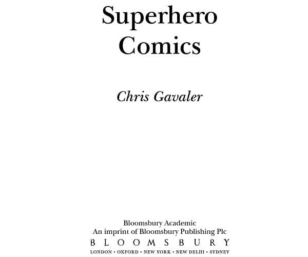 Superhero Comics title page