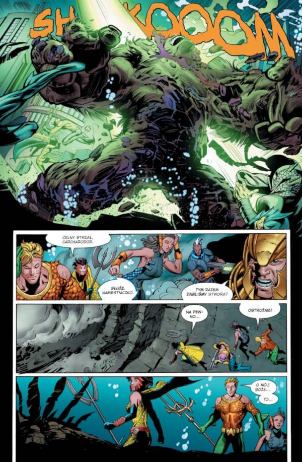 Aquaman Nadpływa Czarna Manta 002