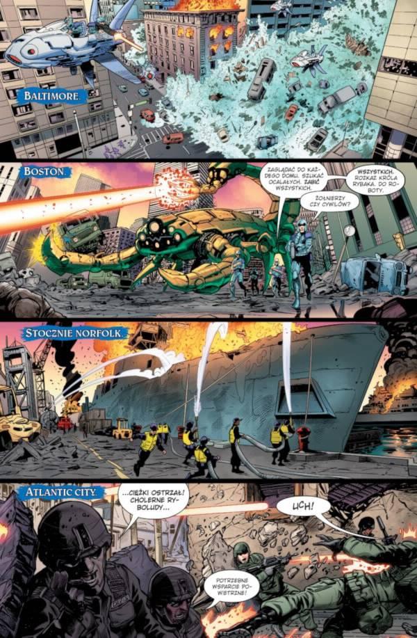 Aquaman Nadpływa Czarna Manta 003