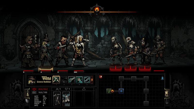 Screenshot z gry Darkest Dungeon