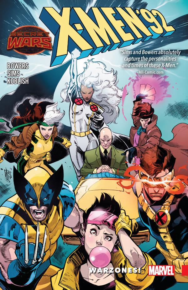 X-Men '92 Warzones – okładka komiksu