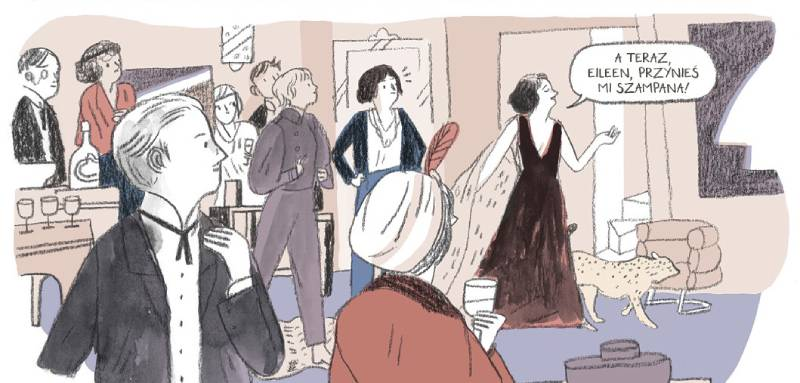 Eileen Gray. Dom pod słońcem - przykładowa plansza komiksu