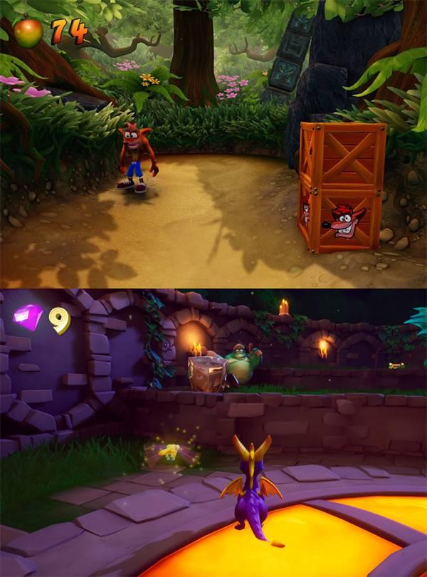 Crash Bandicoot N.Sane Trilogy  Spyro Reignited Trilogy  - screeny z gier