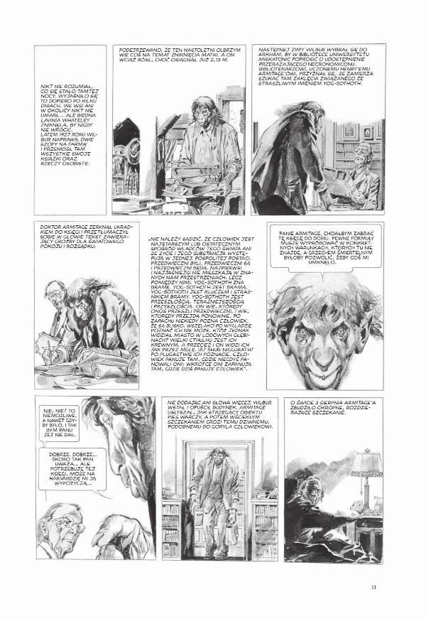 Mity Cthulhu -  przykładowa strona komiksu