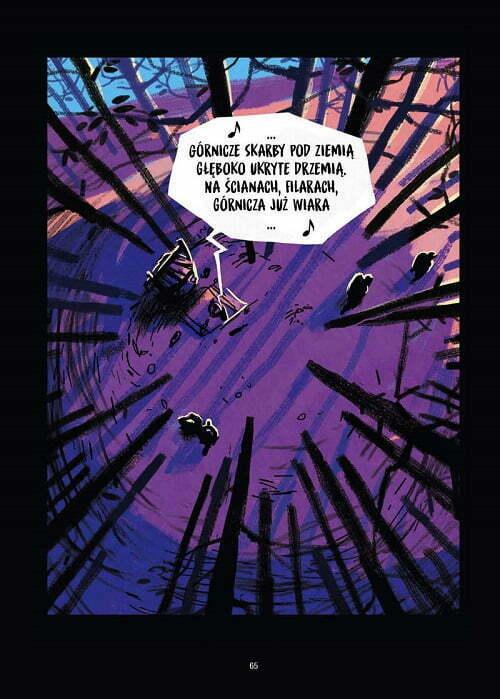 Czarna studnia – przykładowa strona komiksu