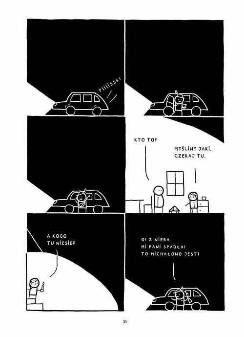 Koniec świata w Makowicach – przykładowa strona komiksu