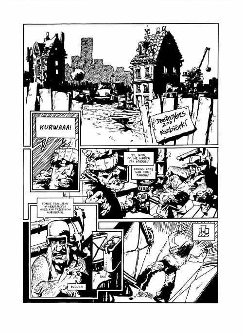Osiedle Swoboda: Niedźwiedź – przykładowa strona komiksu