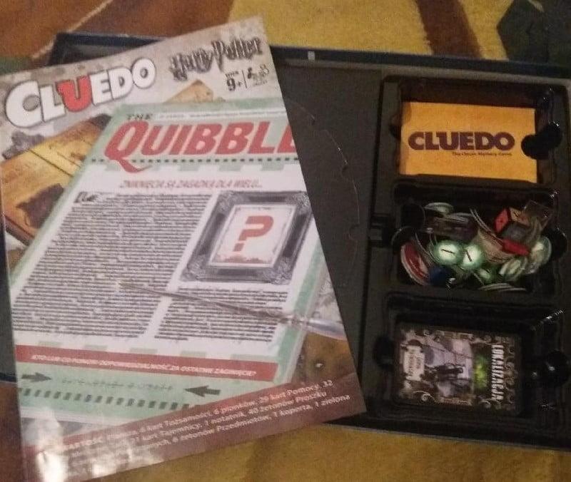 Cluedo: Harry Potter - zawartość pudełka