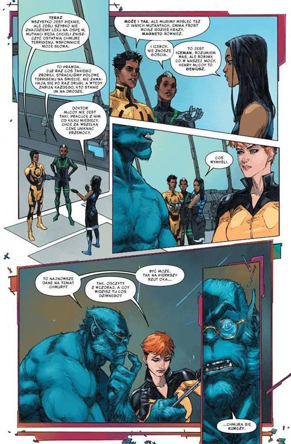 Inhumans kontra X-Men - Przykładowa plansza z komiksu