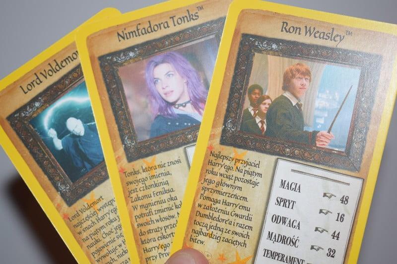 Top Trumps: harry Potter i Zakon Feniksa - przykładowe karty