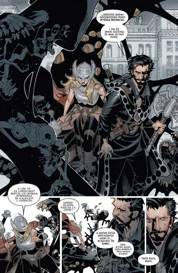 Doktor Strange - przykładowy kadr z komiksu