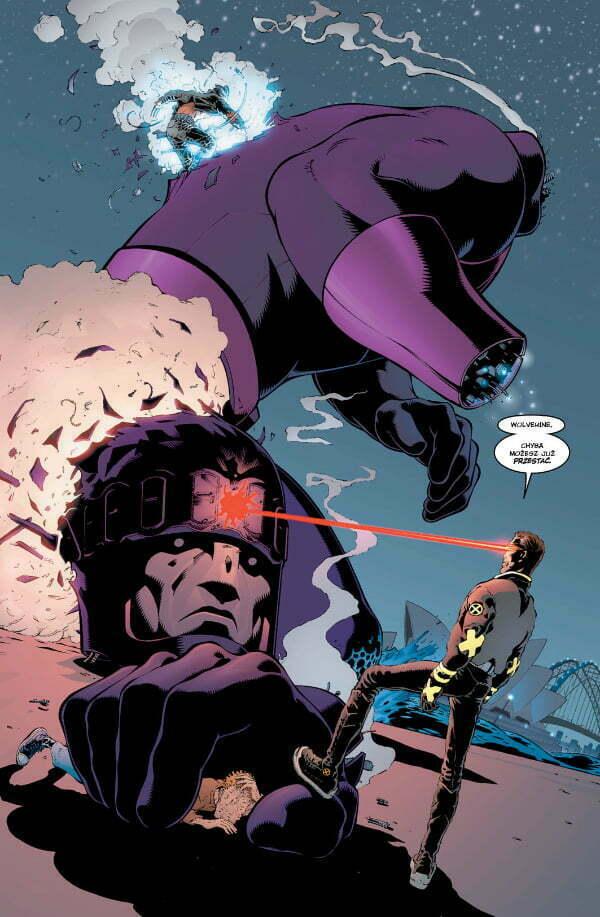 New X-Men - przykładowa strona z komiksu