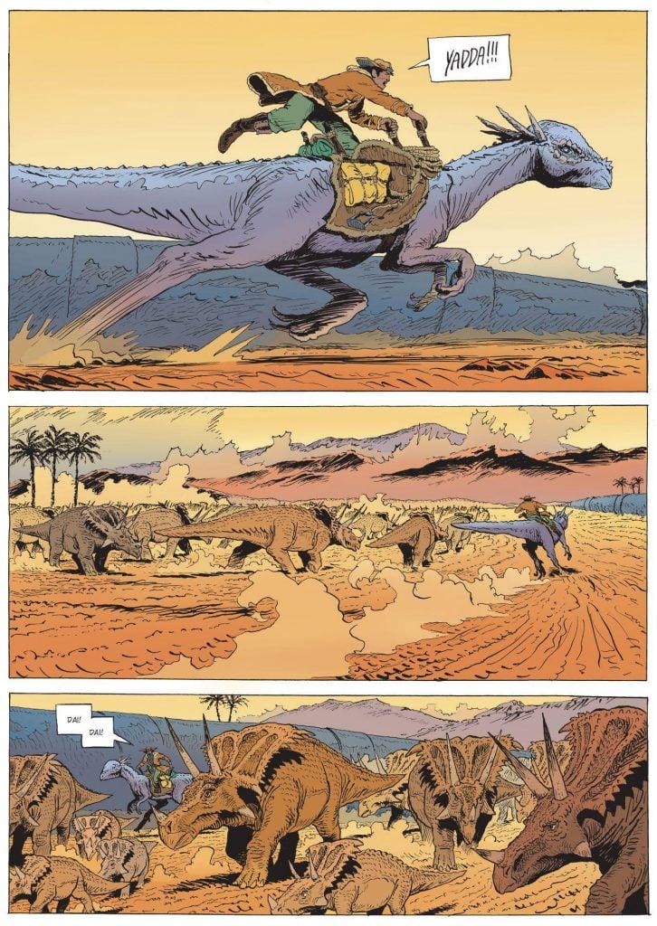 Wypasanie stada dinozaurów