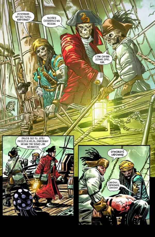 Przykładowa plansza komiksu Conan - Miecz barbarzyńcy: Kult Kogi Thuna