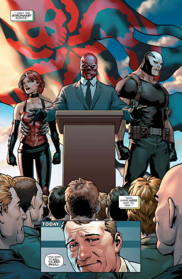 Kapitan Ameryka Steve Rogers — Przykładowa plansza z komiksu