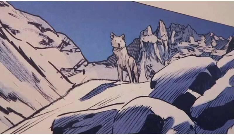 Biało-błękitne barwy królestwa gór.