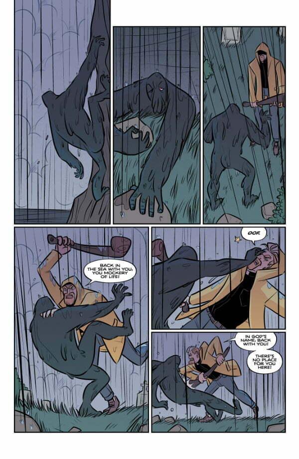 Steeple — Strona z komiksu