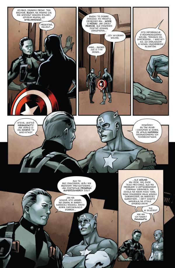 Kapitan Ameryka Steve Rogers — Kadr z komiksu