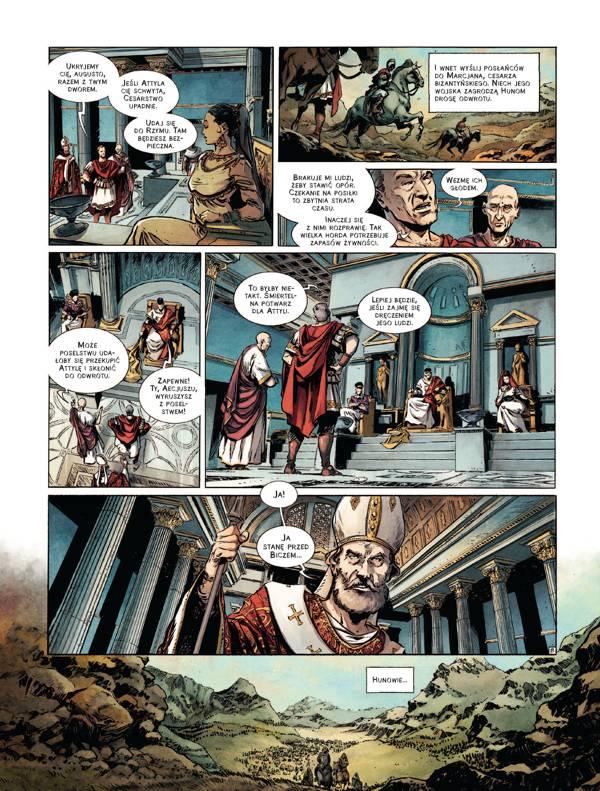 """Komiks """"Leon I Wielki. Pogromca Attyli"""" jest bardziej interesujący niż drugi z komiksów z serii """"Papieże w historii"""""""