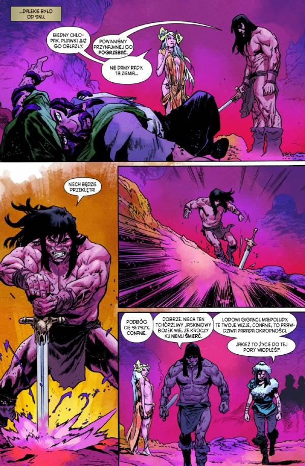 Conan Barbarzyńca: Życie i śmierć Conana Tom 2 - przykładowa strona z komiksu