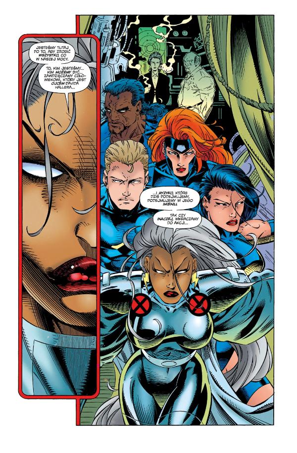 X-Men Era Apocalypse'a - Strona z komiksu