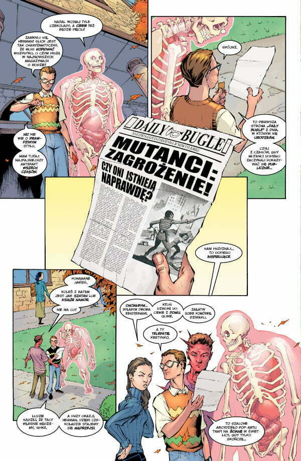 New X-Men - plansza z komiksu
