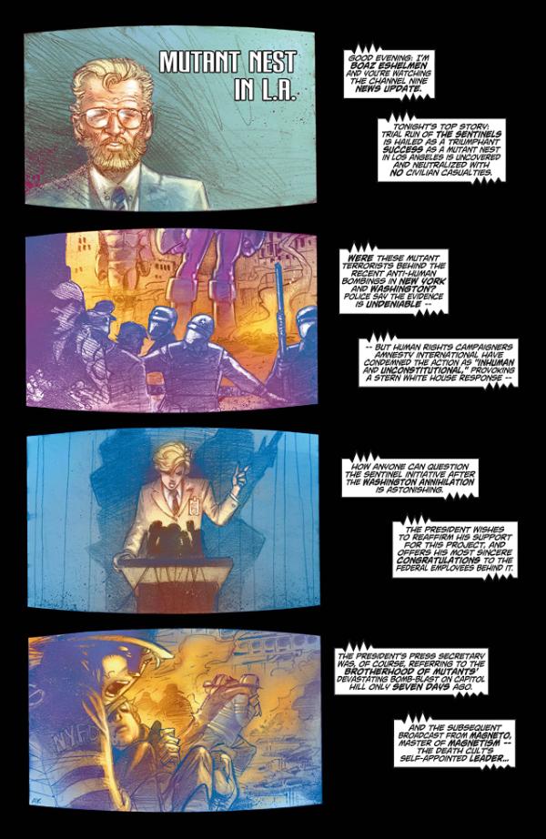 Ultimate X-Men - strona z komiksu