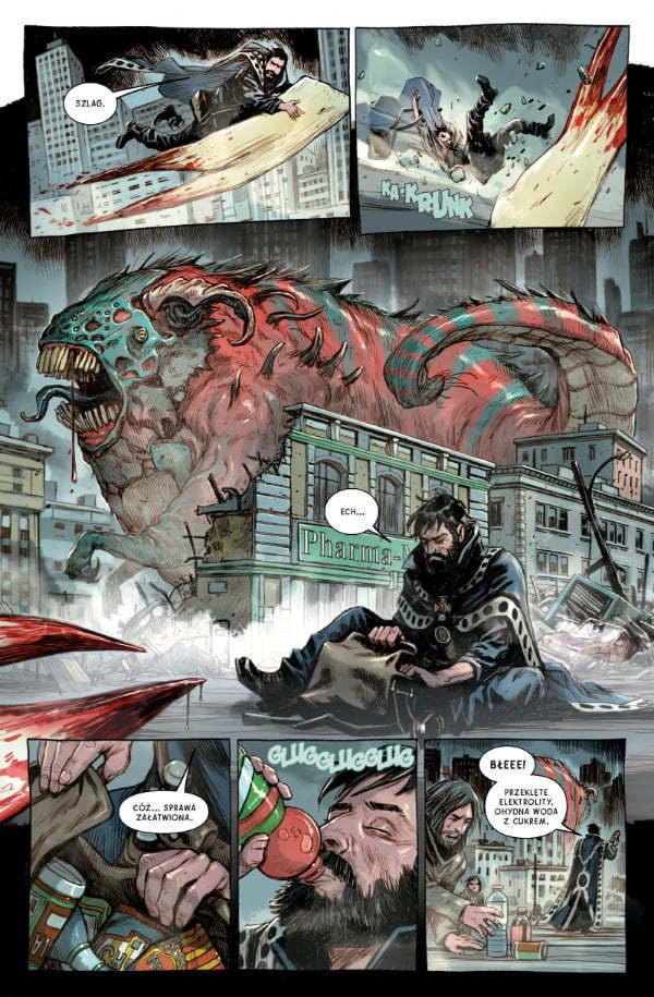 Doktor Strange - strona z komiksu