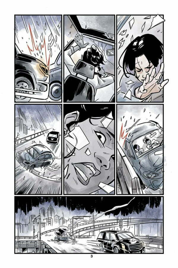 Teen Titans Raven - strona z komiksu