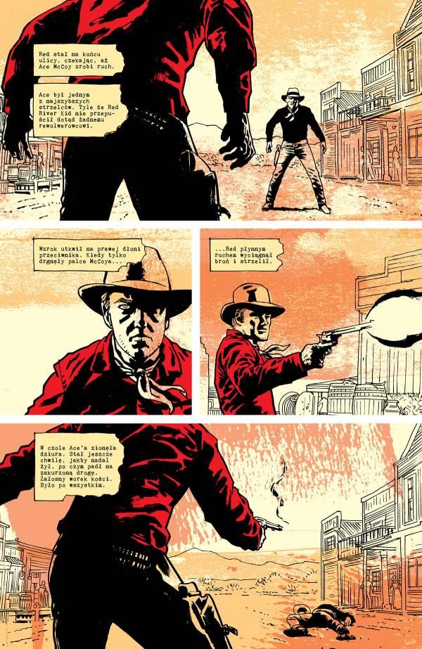 Pulp - przykładowa strona komiksu