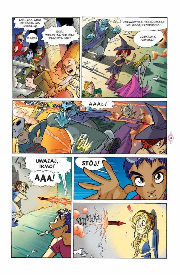W.I.T.C.H - strona z komiksu