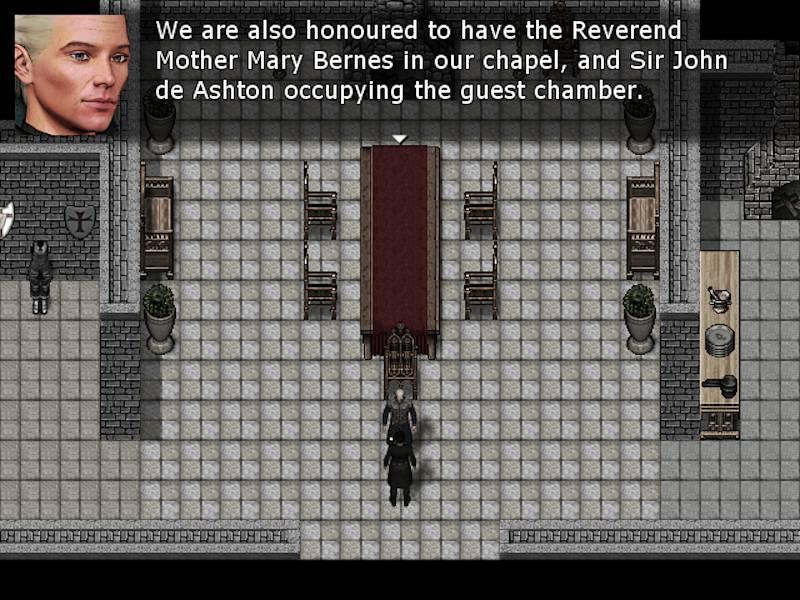 """Kadr z """"The Deed: Dynasty"""". Służący opowiada nam o pozostałych gościach."""