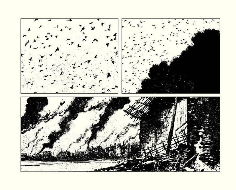 Powietrze pełne ptaków i pożogi.
