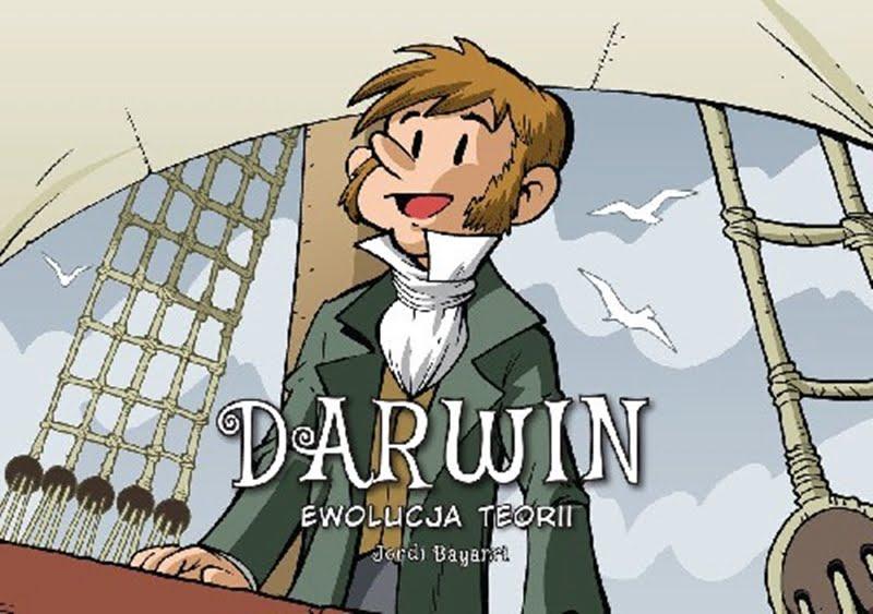 Okładka komiksu Darwin. Ewolucja teorii