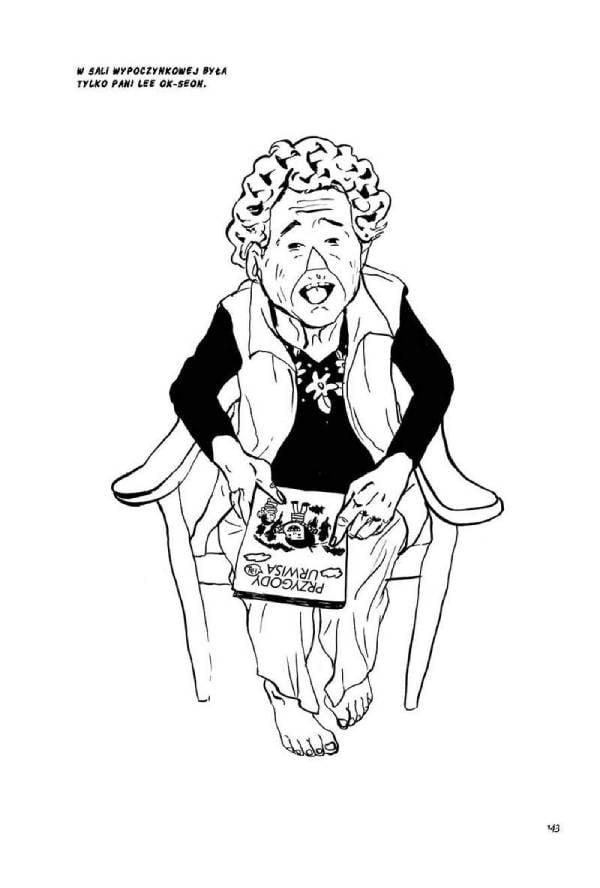 Babcia Lee przy ulubionej rozrywce.