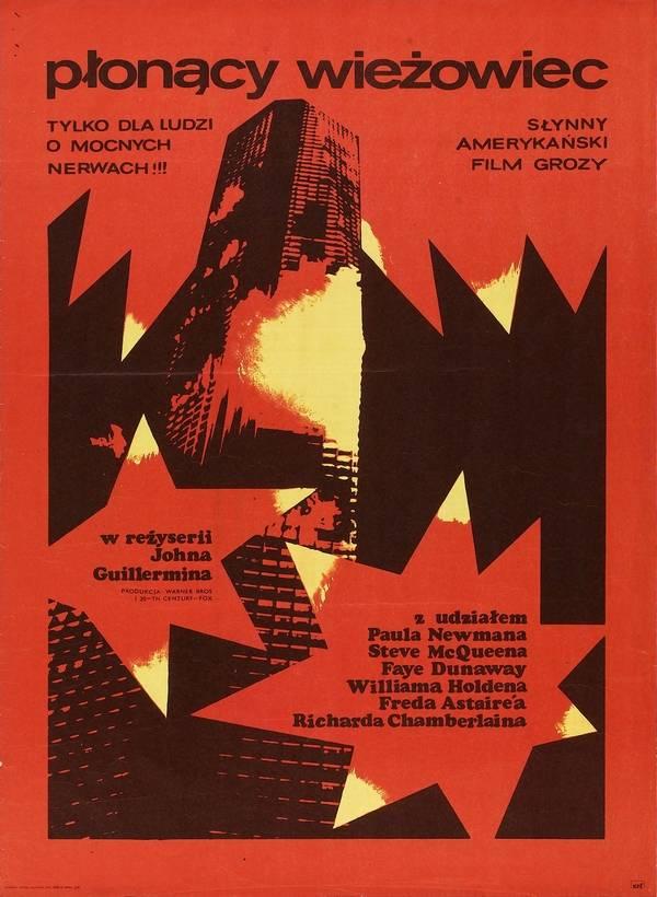 Płonący wieżowiec – plakat filmu