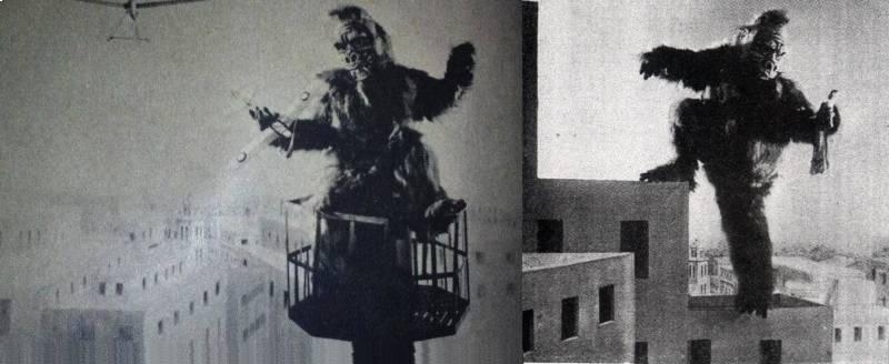Jedyne zachowane klatki z filmu Wasei Kingu Kongu. Źródło: https://commons.wikimedia.org