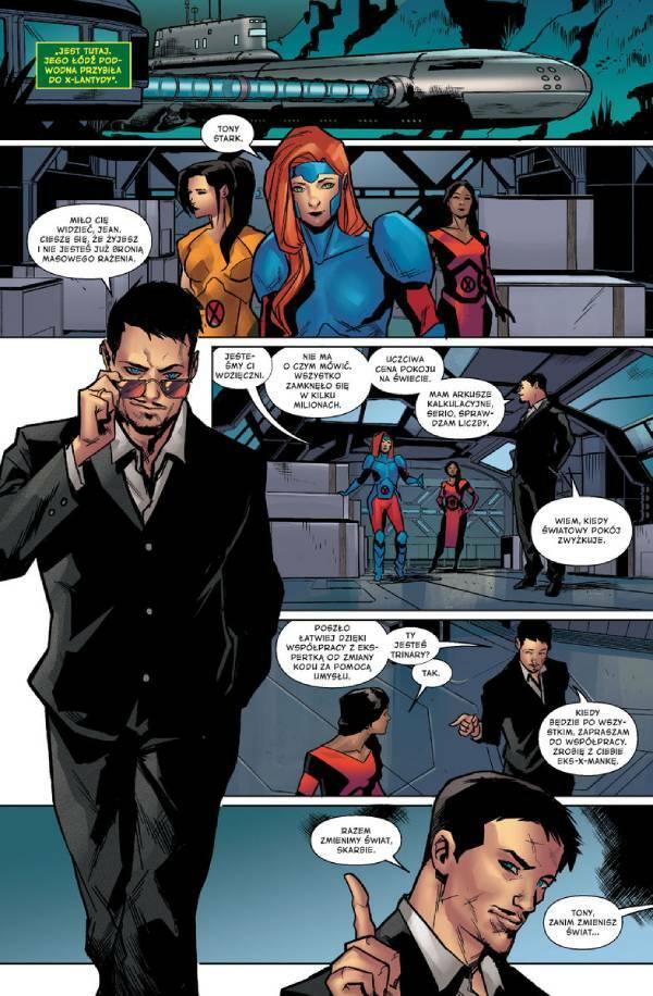 X-Men. Czerwoni - przykładowa strona