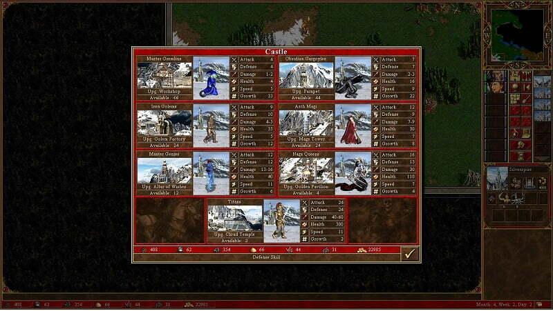 Rekrutacja jednostek - tutaj z fortecy.